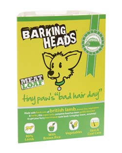 Image of BarkingHeads Tiny Paws Bad Hair Day 7 x 150g - 80% lamb content
