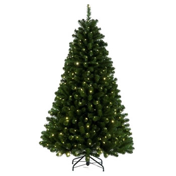 Image of Tree Classics 2.1m (7ft) Green Arctic Spruce with Warm LEDs Artificial Christmas Tree (84-866-385LM)