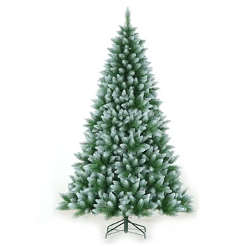 Image of Classics 2.1m (7ft) Green Frosted Allison Spruce Artificial Christmas Tree (84-754-421F)