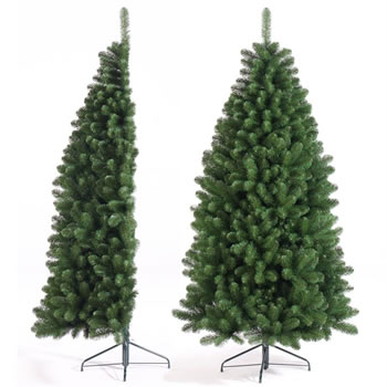 Image of Tree Classics 2.1m (7ft) Green Half Tree Artificial Christmas Tree (84-579-558)