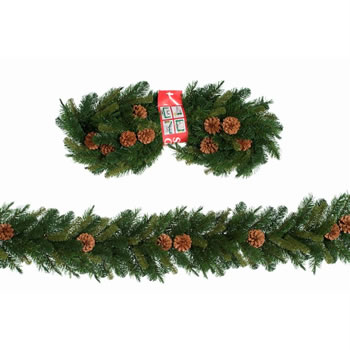 Image of Tree Classics 2.7m x 25cm Green Mixed Pine Artificial Garland (910-240-488)