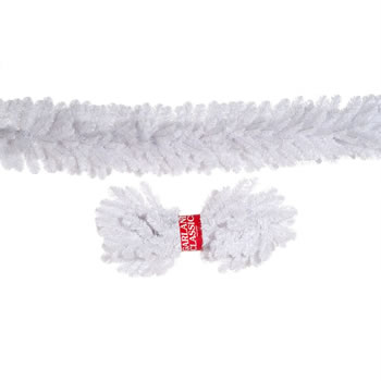 Image of Tree Classics 2.7m X 30cm Alaskan White Artificial Christmas Garland (912-210-850W)