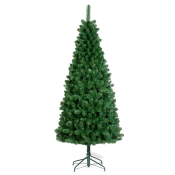 Image of Tree Classics 2.4m (8ft) Green Slim Artificial Christmas Tree (96-845-970)