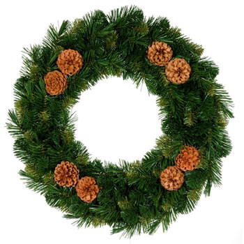 Image of Tree Classics 35cm Green Mixed Pine Artificial Wreath (714-75-488)