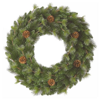 Image of Tree Classics 60cm (2ft) Northern Spruce Artificial Wreath (724-180-377)