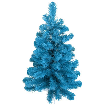 Image of Tree Classics 60cm (2ft) Table Tree Blue Artificial Christmas Tree (24-72-300BL)