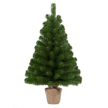 Image of Tree Classics 60cm (2ft) Green Burlap Artificial Christmas Table Tree (24-72-BLP)
