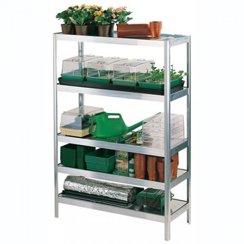 Image of Versatile Shelving 152.5cm high - 76cm long - 40.5cm wide complete with aluminium trays
