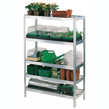 Image of Versatile Shelving 152.5cm high - 122cm long - 40.5cm wide complete with aluminium slats
