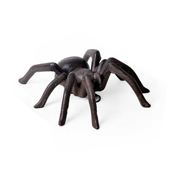 Image of Large Wall Mountable Vintage Finish Cast Iron Tarantula Ornament