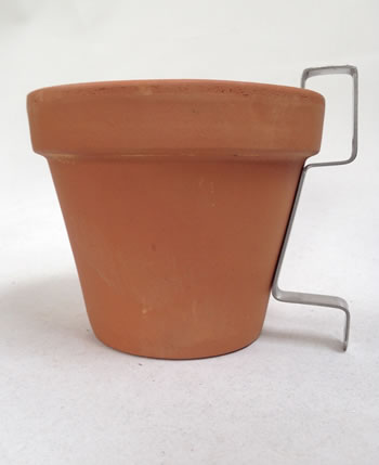 Image of 3 x Nutley's Terracotta Plant Pots with Hanging Wall Bracket