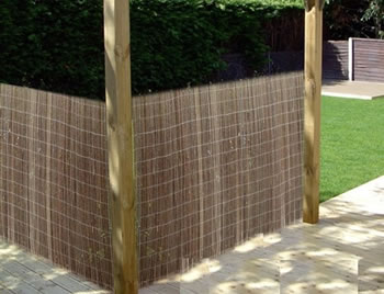 Image of 2m tall x 3m long willow screening fence - for gardens, balconies, screen