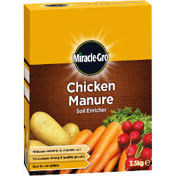 Image of Miracle Gro Chicken Manure Soil Enricher Plant Food - 3.5 Kg