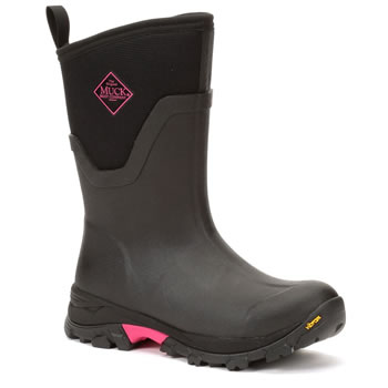 Image of Muck Boot - Arctic Ice Mid - Black/Hot Pink - UK 6