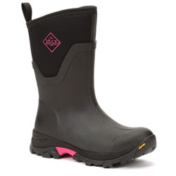 Small Image of Muck Boot - Arctic Ice Mid - Black/Hot Pink - UK 6