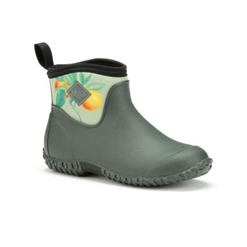 Image of Muck Boot Muckster II RHS Ankle Boots - Green/Citrus Aurantium - UK 6 / EU 39