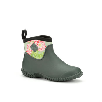 Image of Muck Boot Women's Muckster II RHS Ankle Boots - Green / Rosa Gallica