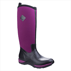 Small Image of Muck Boot Arctic Adventure Wellies in Black/Mauve