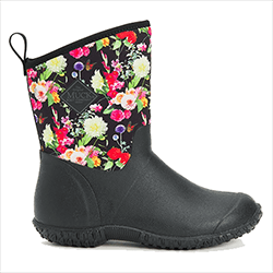 Small Image of Muck Boot Women's Muckster II Mid Boots in Black/Flora