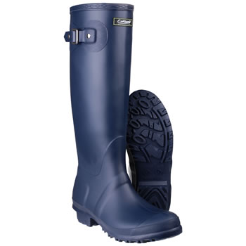 Image of Womens Cotswold Sandringham Wellington Boots - Navy - UK Size 4
