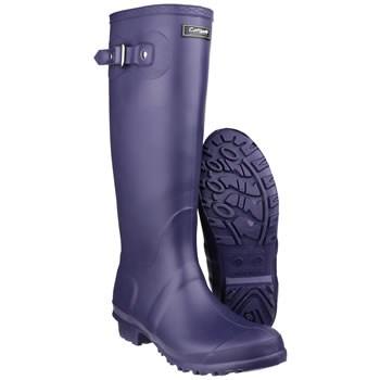 Image of Womens Cotswold Sandringham Wellington Boots - Purple - UK Size 4