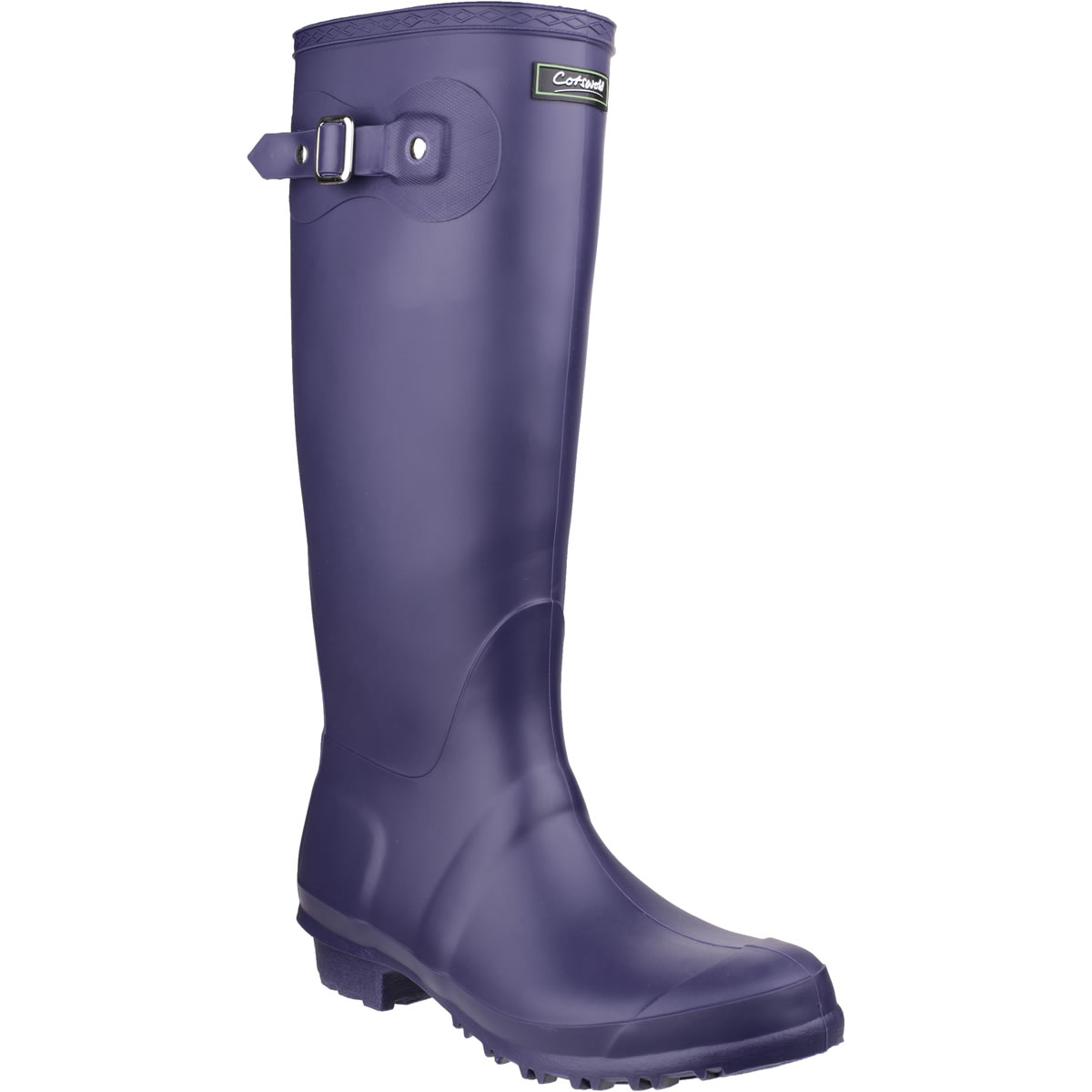 Extra image of Womens Cotswold Sandringham Wellington Boots - Purple - UK Size 4