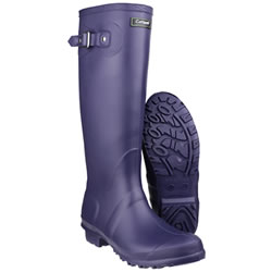 Small Image of Womens Cotswold Sandringham Wellington Boots - Purple - UK Size 4