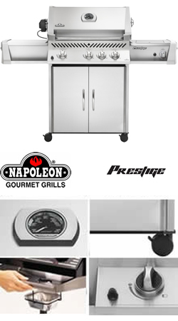 Image of Napoleon Prestige I Gourmet Propane BBQ Grill With Free Cover