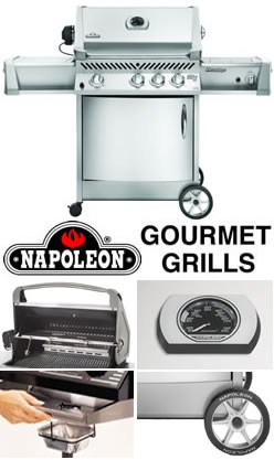 napoleon prestige ii gourmet gas bbq grill with free cover. Black Bedroom Furniture Sets. Home Design Ideas