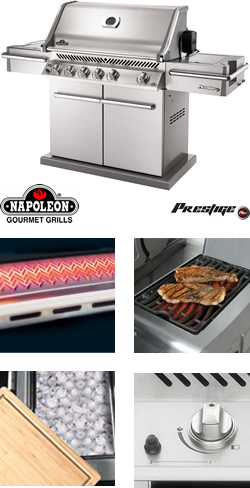 Image of Napoleon Prestige Pro Natural Gas BBQ Grill With Free Cover