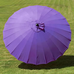 Small Image of Norfolk Leisure 2.7m Round Geisha Garden Parasol - Purple