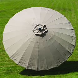 Small Image of Norfolk Leisure 2.7m Round Geisha Garden Parasol - Taupe