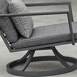 Extra image of Life Maroon Relaxer Chair in Lava / Carbon