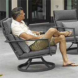 Small Image of Life Maroon Relaxer Chair in Lava / Carbon