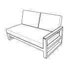 Life Fitz Roy Lounge Bench - dimensions image