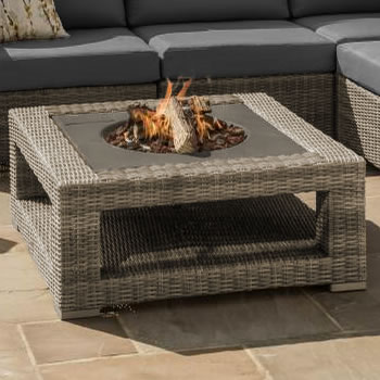Image of LIFE Aya Fire Pit Coffee Table in Camel