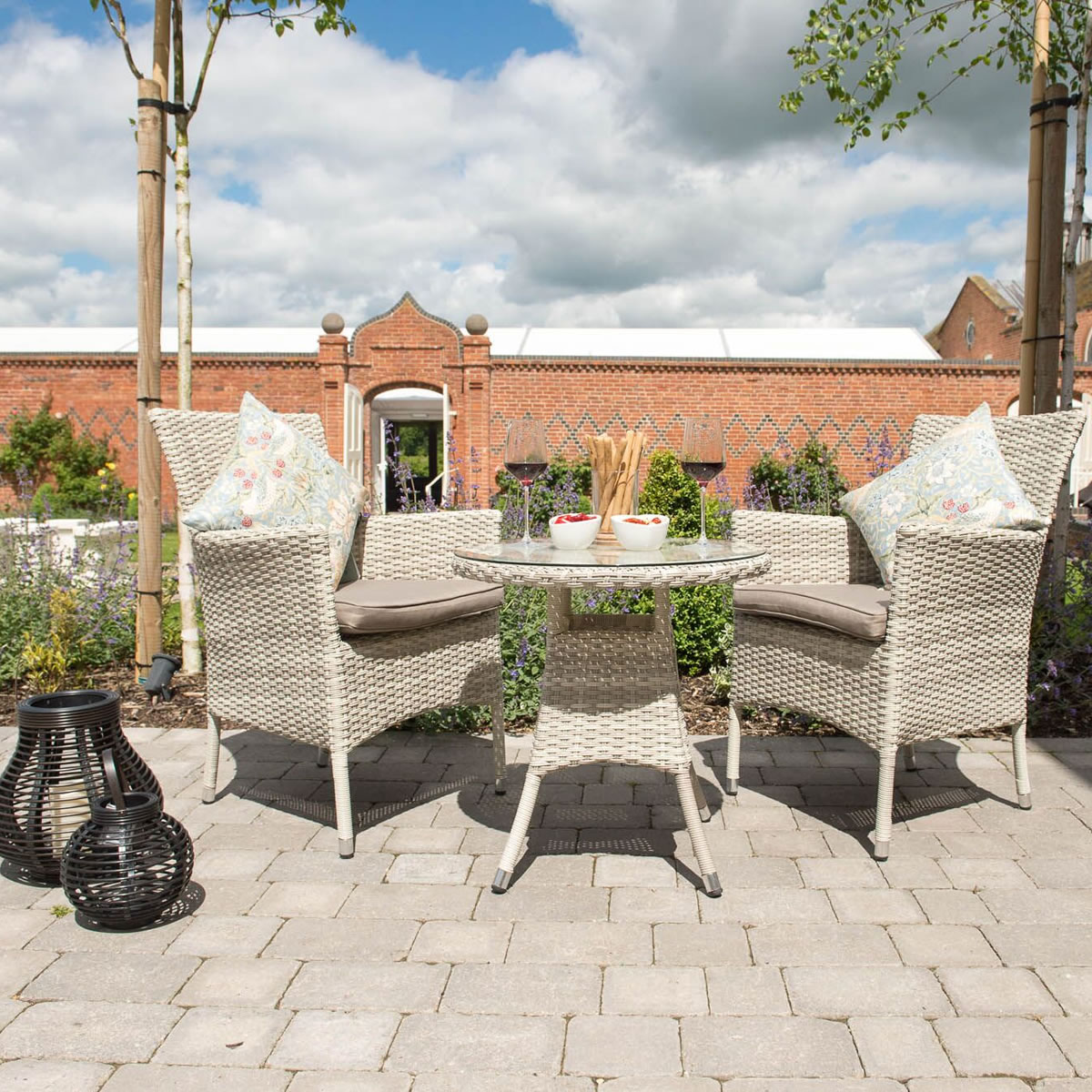 ... Garden Furniture 4 Less Cotswold Weave Bistro Furniture Set In Pebble  Taupe 163 299 Garden4less Uk ...