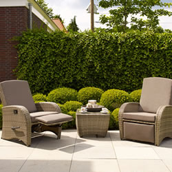 Small Image of Florenity Diva Weave Garden Furniture Set