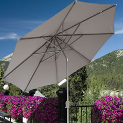 Small Image of Elizabeth 3.0m Garden Parasol - Taupe/Sand