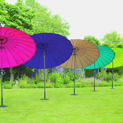 Small Image of Norfolk Leisure 2.7m Round Geisha Garden Parasol