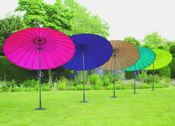 Image of Norfolk Leisure 2.7m Round Geisha Garden Parasol