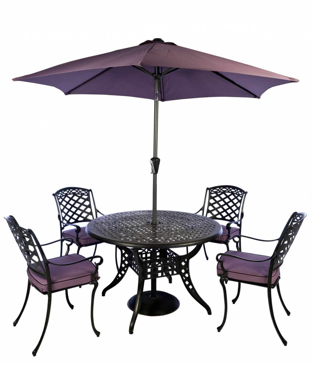 Gypsy 4 Seater Furniture Set Coke Blackberry by Idle Rose