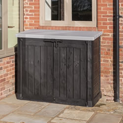 Small Image of Keter Hideaway XL Garden Storage Box - Anthracite