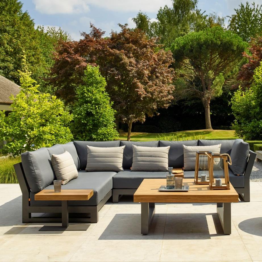 LIFE Nevada Mini Corner Sofa Set in Lava / Carbon - £3229 ...