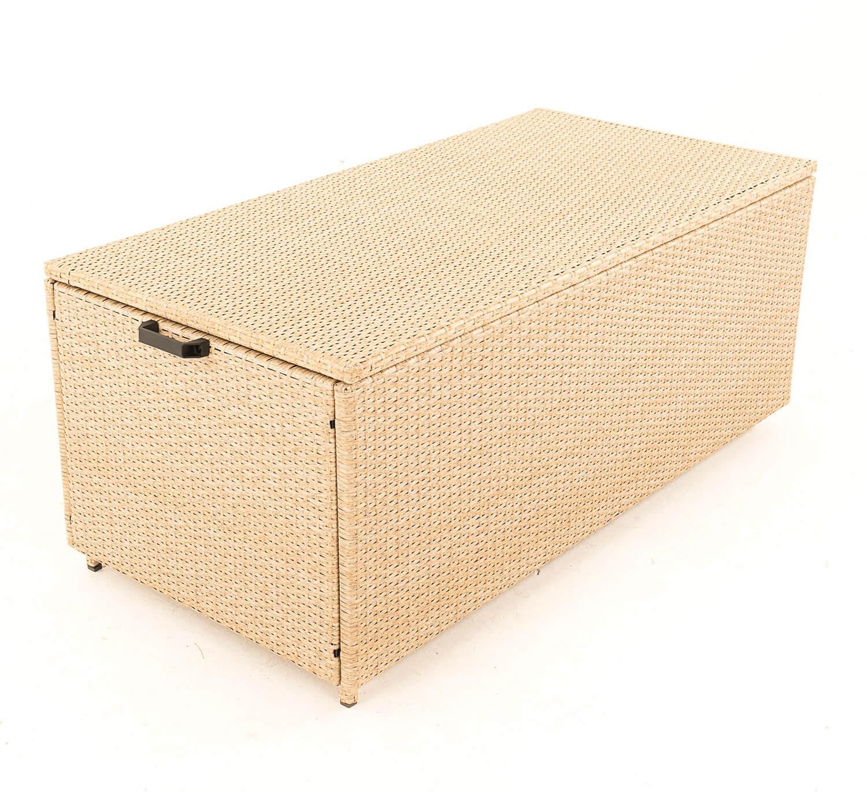 Serenity Weave Cushion Storage Box In Natural