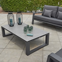Extra image of Life Boston Lounge Sofa Set in Lava / Carbon