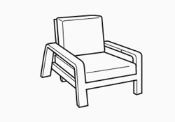 lounge chair dimensions - dimensions image