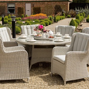 Small Image of Life King 6 Seater Weave Dining Set
