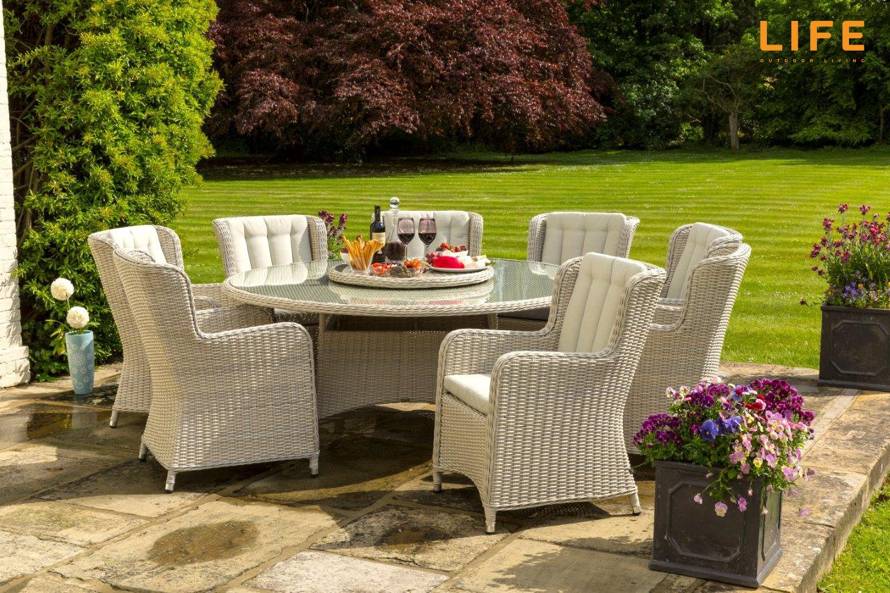 image of life king 8 seater weave dining set