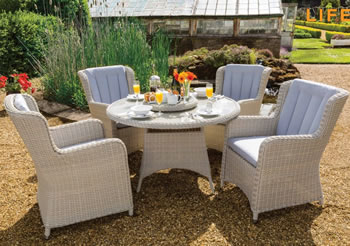 Image of Life King 4 Seater Weave Dining Set